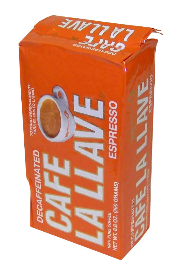 Cafe La Llave Decaf Esp Ground 8.8oz - (12 unit box)